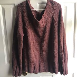 Free People off the shoulder knit sweater